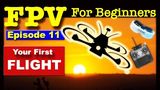 EP 11 - FPV FOR BEGINNERS - Your FIRST FLIGHT - How To Fly without crashing