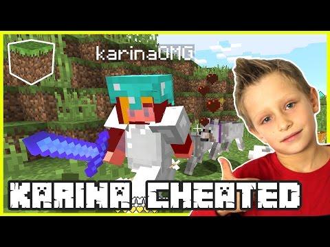Karina was CHEATING! | Minecraft