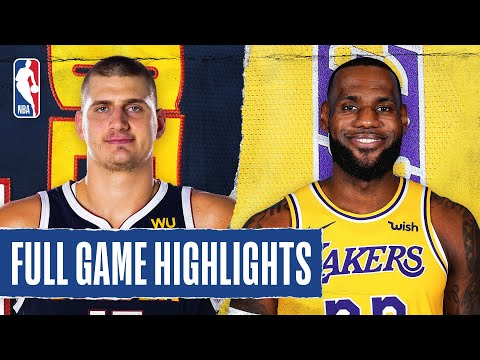 NUGGETS at LAKERS   FULL GAME HIGHLIGHTS   August 10, 2020