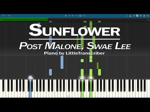 Post Malone, Swae Lee - Sunflower (Piano Cover) Spider-Man Into the Spider-Verse - LittleTranscriber