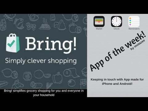 App of the week! (Bring! shopping list)