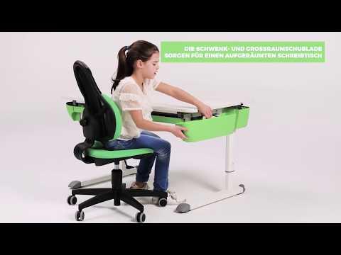 Стол Kettler Maze, белый/зеленый