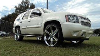 Pearl White Chevy Tahoe on 28