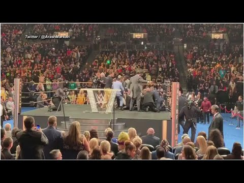 VIDEO: WWE fan attacks Bret Hart during Hall of Fame ceremony