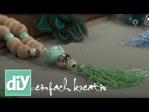 Ethno-Schmuck mit Quasten | DIY einfach kreativ