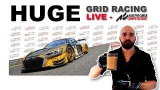 HUGE Grid Racing with subs  | Assetto Corsa Competizione
