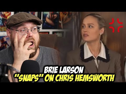 Brie Larson SNAPS on Chris Hemsworth in a Interview!!!