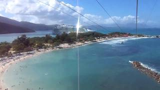 preview picture of video 'Labadee Haiti Zip Line 11/28/2011 DF Very funny!'
