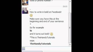 How to type in bold writing on Facebook