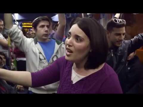 Флешмоб в поезде ( гимн Израиля) видео