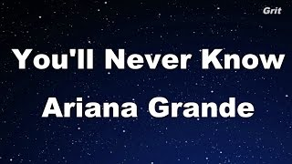 You'll Never Know - Ariana Grande Karaoke【No Guide Melody】