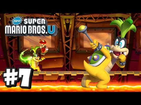 New Super Mario Bros U Walkthrough - Part 3 World 2-4, 2-5