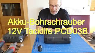 Akku Bohrschrauber 12V Tacklife PCD03B