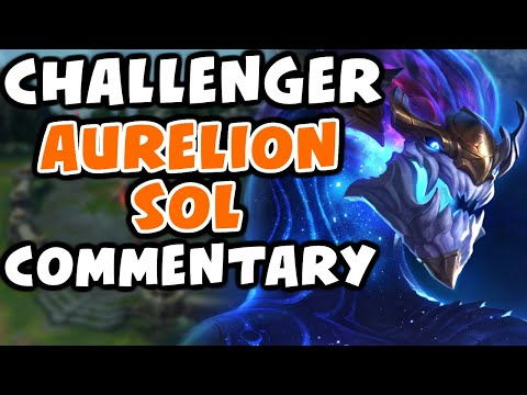 Challenger Aurelion Sol Commentary   Vs Camille Mid   Preseason - League of Legends