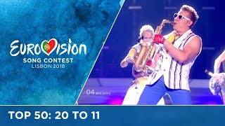 TOP 50: Most watched in 2017: 20 TO 11 - Eurovision Song Contest