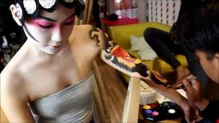 Body Painting Phoenix Lady Yakuza