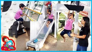 น้องบีม | เล่นสนามเด็กเล่น เที่ยวนครราชสีมา ฟาร์มโชคชัย