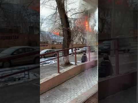 На ул. Николая Панова в Самаре произошел крупный пожар