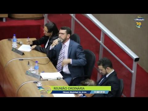 Reunião Ordinária (13/08/2018) - Câmara de Arcos