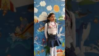 الطفله رانيا احمد موسى حسين فى حفله عيد الام باالمدرسه التجربيه بشبين القناطر  2017