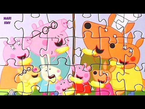 Свинка Пеппа - Peppa Pig - Собираем пазлы для детей |MariKMV