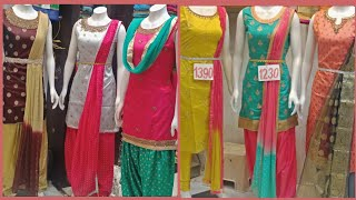 Unique Collection Of Patiyala & Straight Cut Long Dresses / With Price & Address/ Kukatpally
