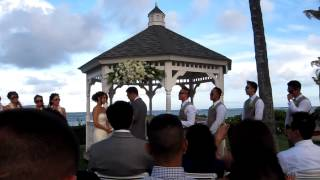 preview picture of video 'Lily and David's wedding ceremony at the beautiful Kahala resort 9-3-12 - Best wedding ever!!'