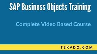SAP BO Universe Designer - (SAP Business Objects)