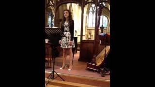 Charlotte sings Franck's Panis Angelicus