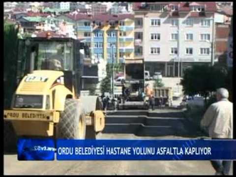ORDU BELEDİYESİ HASTANE YOLUNU ASFALTLA KAPLIYOR