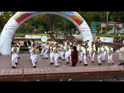 [4K] 猪子石中学校 吹奏楽部 マーチングパフォーマンス @ 栄まちじゅう音楽広場 2015
