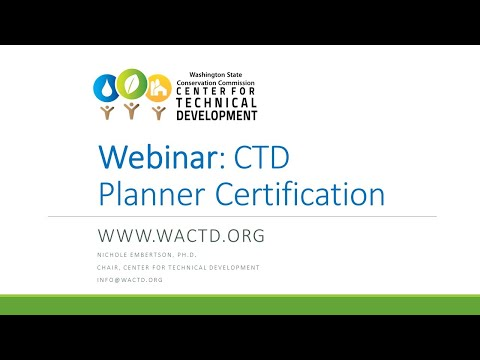 CTD Planner Certification - The Why, Who, and How to Apply ...