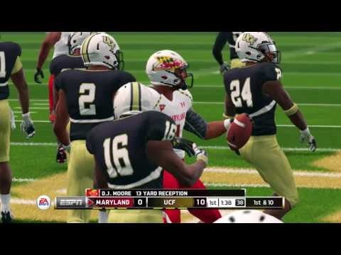 NCAA Football 14 Season 2016-2017 Maryland Terrapins vs UCF Knights