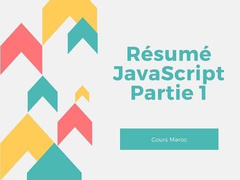 Informatique : Résumé JavaScript - Partie 1