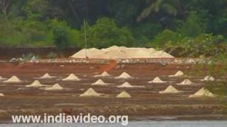 Salt making at Karnataka