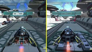 Wipeout Omega Collection PS3 vs PS4 Pro Graphics Comparison