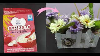 How To Reuse Cereal Box Into Centerpiece|home Decor Ideas|SAPNA CRAFT WORLD|