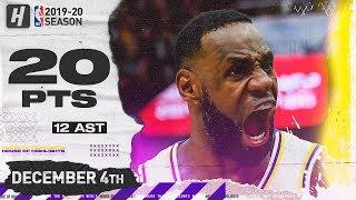 LeBron James 20 Pts 12 Ast Full Highlights   Lakers vs Jazz   December 4, 2019