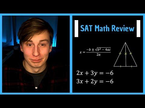 SAT Math Test FULL Review (50 Problems)    Algebra & Geometry, Calculator & Non-Calculator