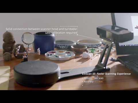 EinScan-SE 3D Scanner with Turntable (Elite)
