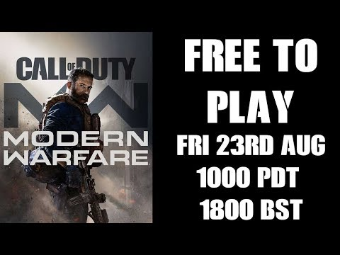 COD Modern Warfare Is FREE TO PLAY From 23rd Aug 2019 (2v2 PS4 Alpha)