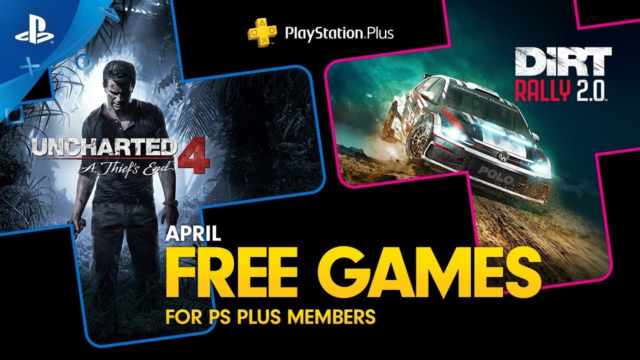Uncharted 4: A Thief's End and Dirt Rally 2.0 are Your PlayStation Plus  Games for April – PlayStation.Blog
