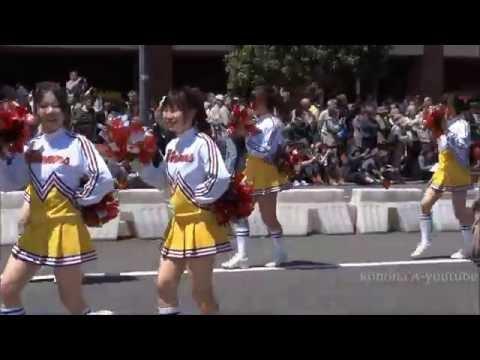 女子高生 チア チアガール よこはまパレード 02 High school girls cheer parade