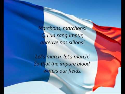 La Marseillaise: Phonetic version of French national anthem