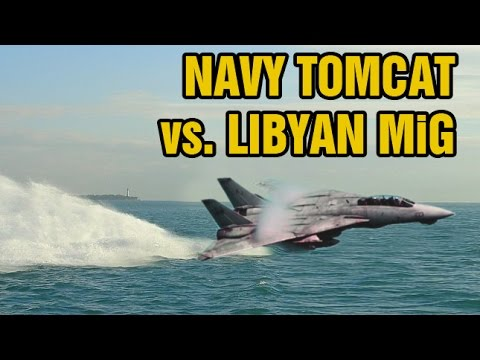 U.S. Navy F-14 Tomcats shoot down two Libyan MiG-23 Floggers in a dogfight over the Mediterranean.