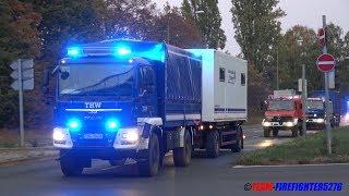 [Katastrophenschutzwochenende] Kolonnenfahrt Feuerwehr + THW + BRK Aschaffenburg