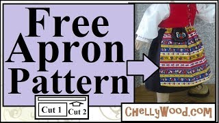 Free Doll Clothes Patterns: 18 Inch Doll Apron