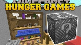 Minecraft: GIANT ROOM HUNGER GAMES - Lucky Block Mod - Modded Mini-Game