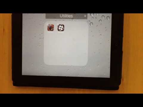 Screenshot of video: Making folders on your ipad