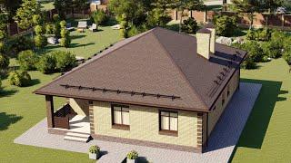 Проект дома 115-A, Площадь дома: 115 м2, Размер дома:  9,2x13,2 м